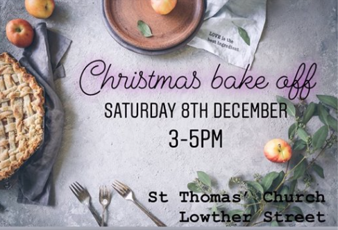 Bake off St Thomas poster